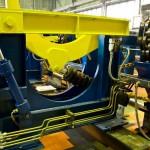 Einlauf und Auslauf einer Richtmaschine für Stabmaterial
