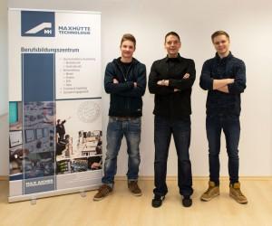 Bild von links: Felix Sommerer, Uwe Frömel, Stefan Kraus
